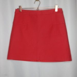Max Studio Size 6 Solid Red Skirt